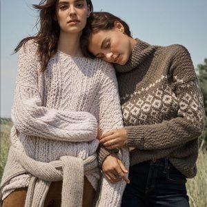 Vince // Fair Isle Turtleneck Sweater
